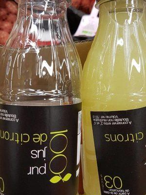 Jus de citron - Produit