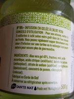 Infusion en gelée Aloé vera - Ingrédients - fr