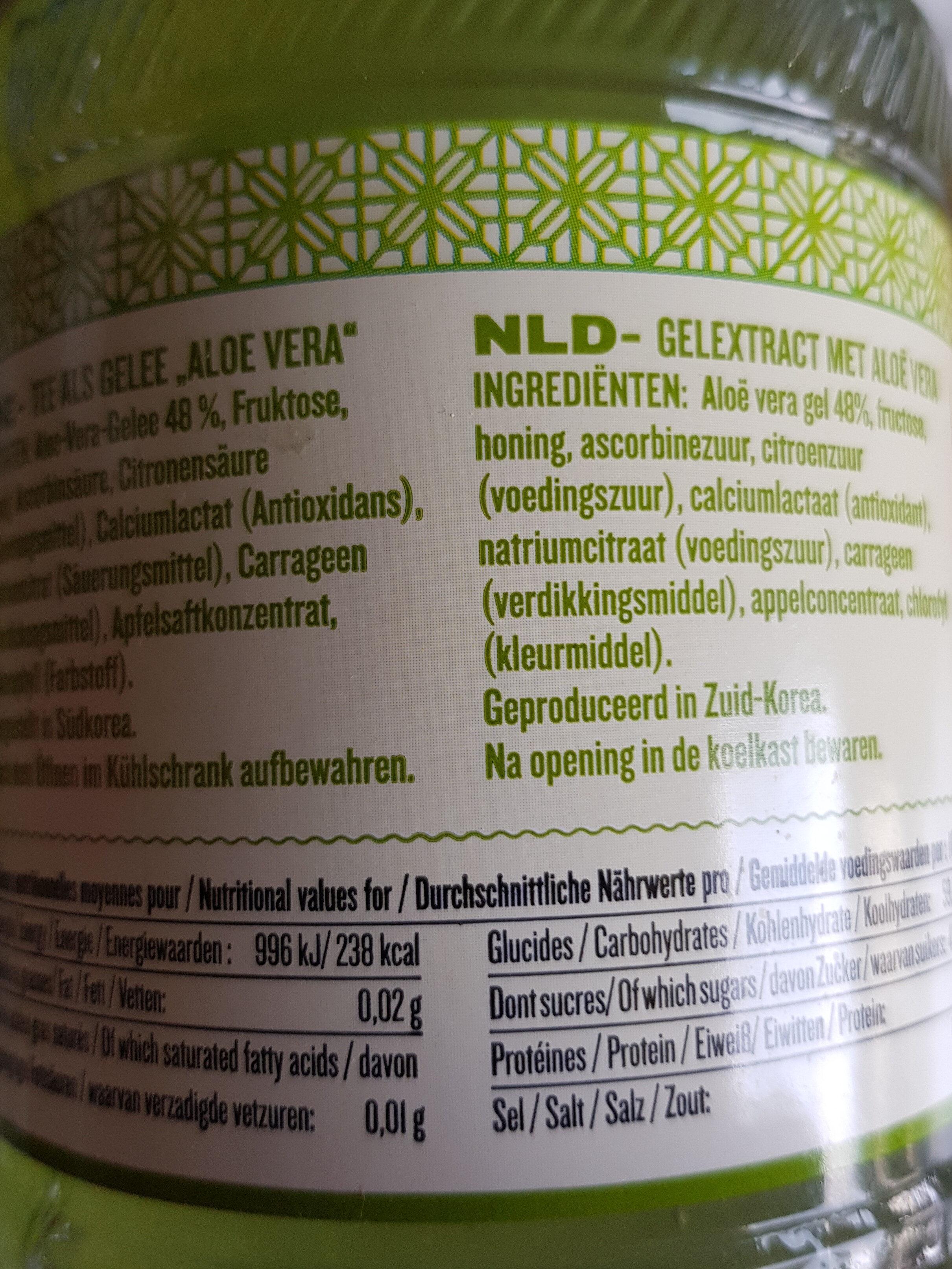 Infusion en gelée Aloé vera - Informations nutritionnelles - fr
