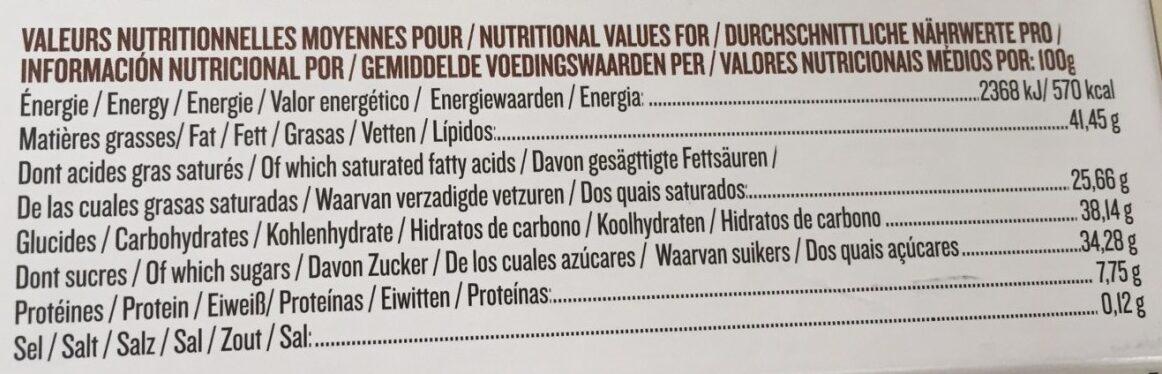 Assortiment de chocolat - Informations nutritionnelles - fr