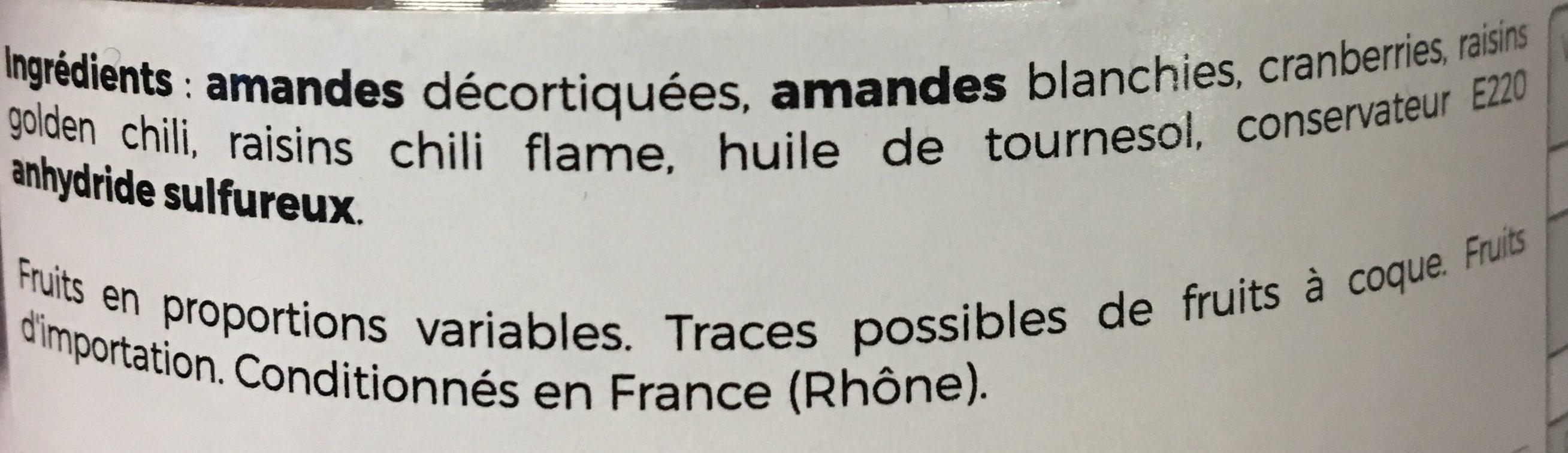 Mélange sportif - Ingrédients - fr