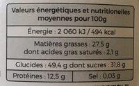 Mélange sportif - Informations nutritionnelles - fr