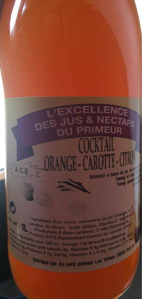 Cocktail orange carotte citron - Produit - fr