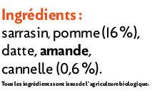 Muesli Croustillant Pomme-cannelle - Ingrédients