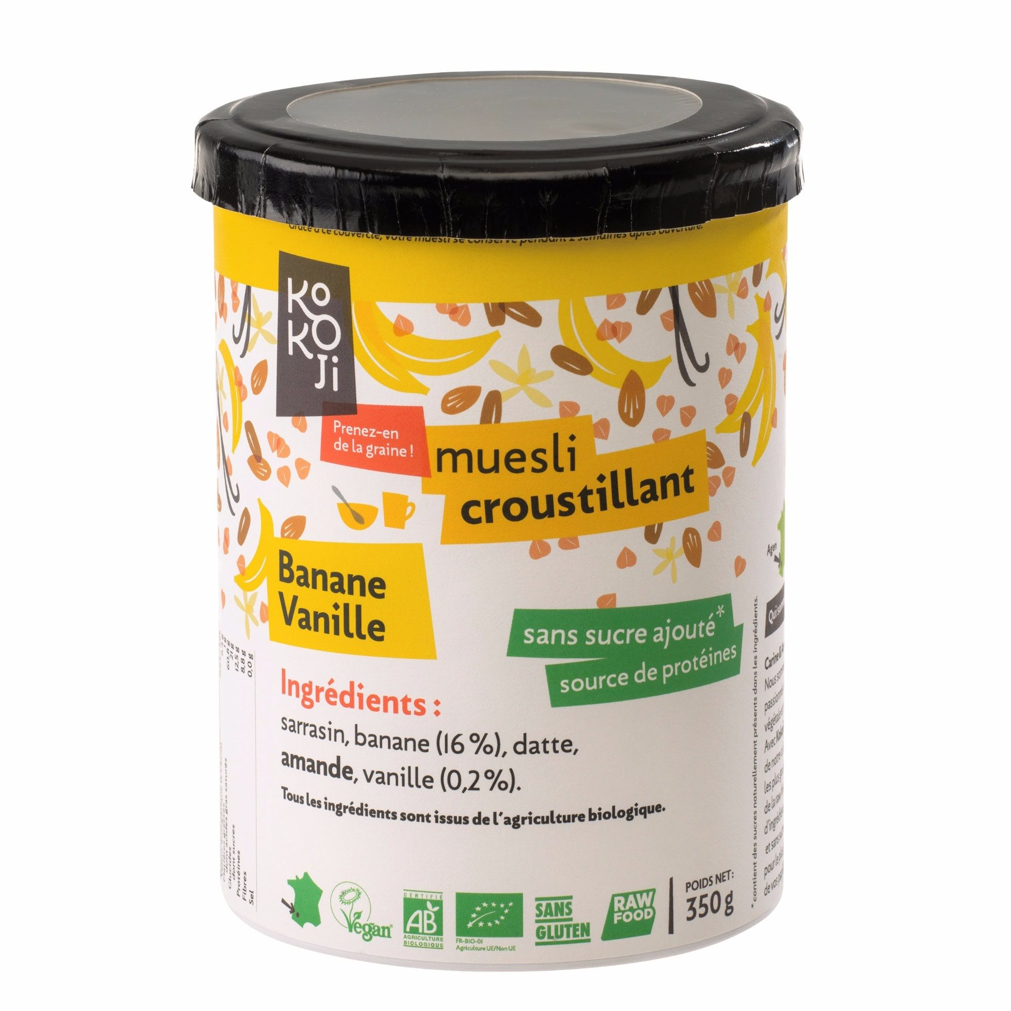 Muesli croustillant banane-vanille Kokoji - Produit - fr