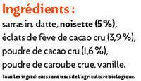 Muesli Croustillant Cacao Noisette - Ingrédients