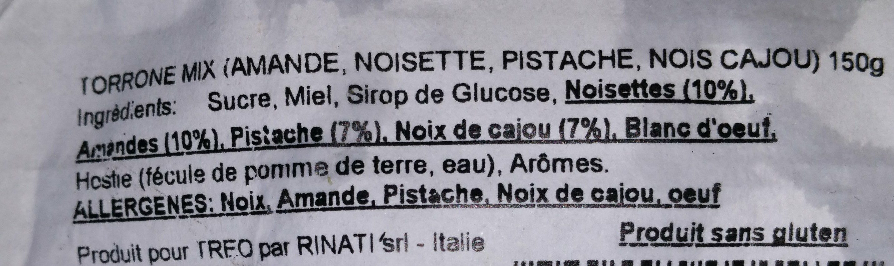 Torrone mix - Ingredients - fr