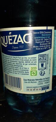 Eau minérale gazeuse - Ingredienti - fr