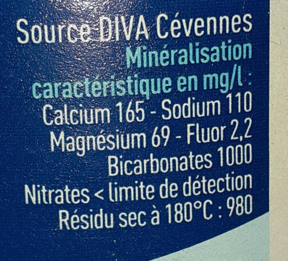 Eau minérale gazeuse - Valori nutrizionali - fr