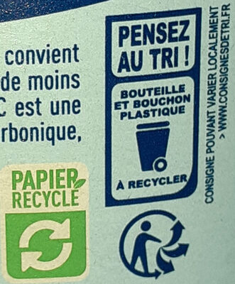 Eau minérale gazeuse - Recyclinginstructies en / of verpakkingsinformatie - fr