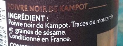 Poivre noir de Kampot - Ingredients