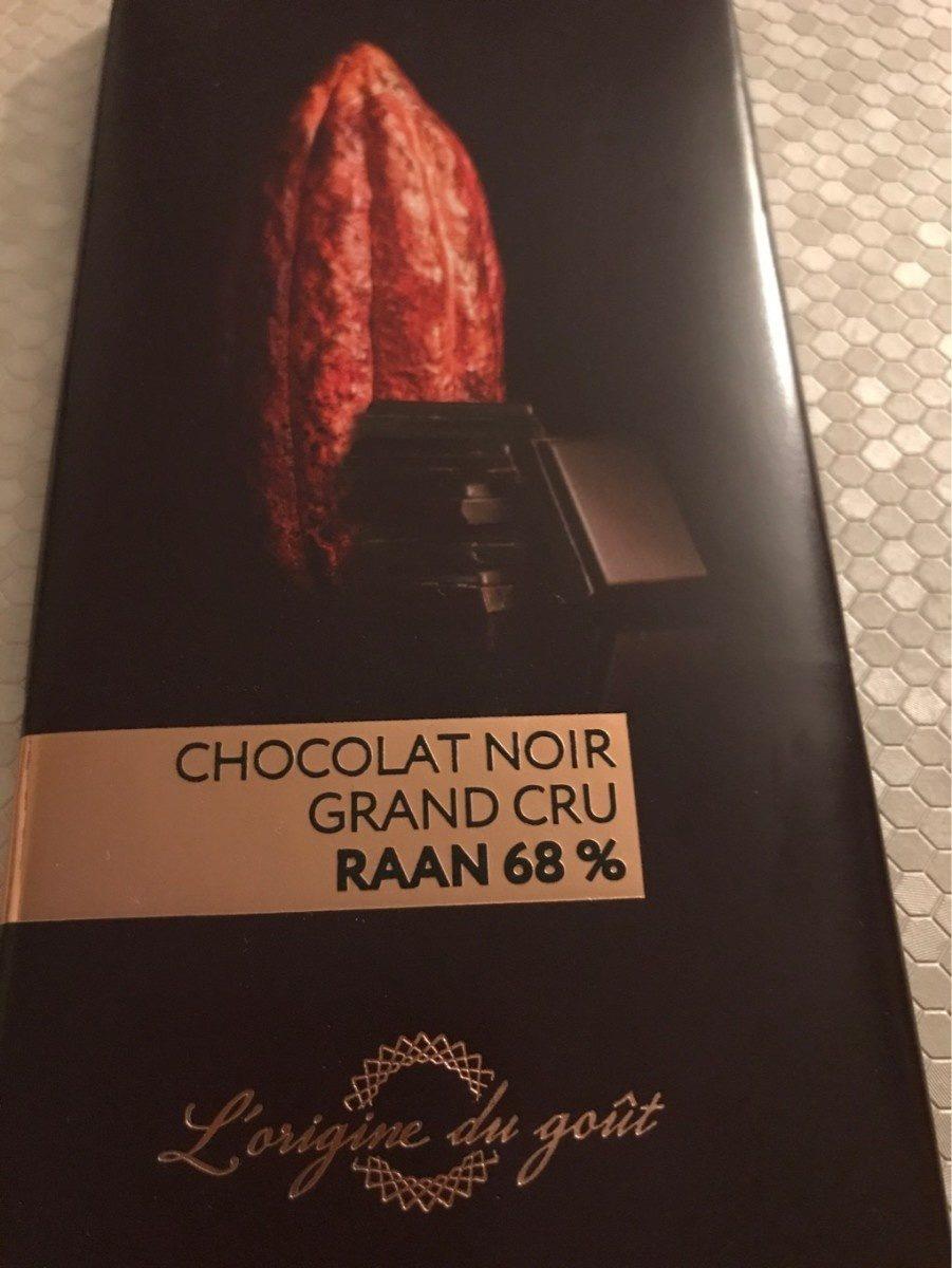 Chocolat noir grand cru Raan 68% - Product - fr