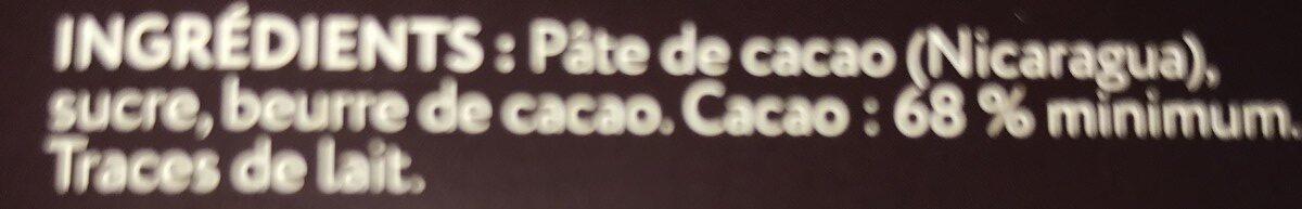 Chocolat noir grand cru Raan 68% - Ingredients - fr