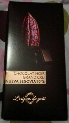 Chocolat noir grand cru Nueva Segovia 70% - Product - fr