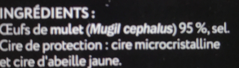 Boutargue cirée entière - Ingredients - fr