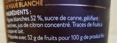 Confiture Extra Figue Blanche - Ingredients