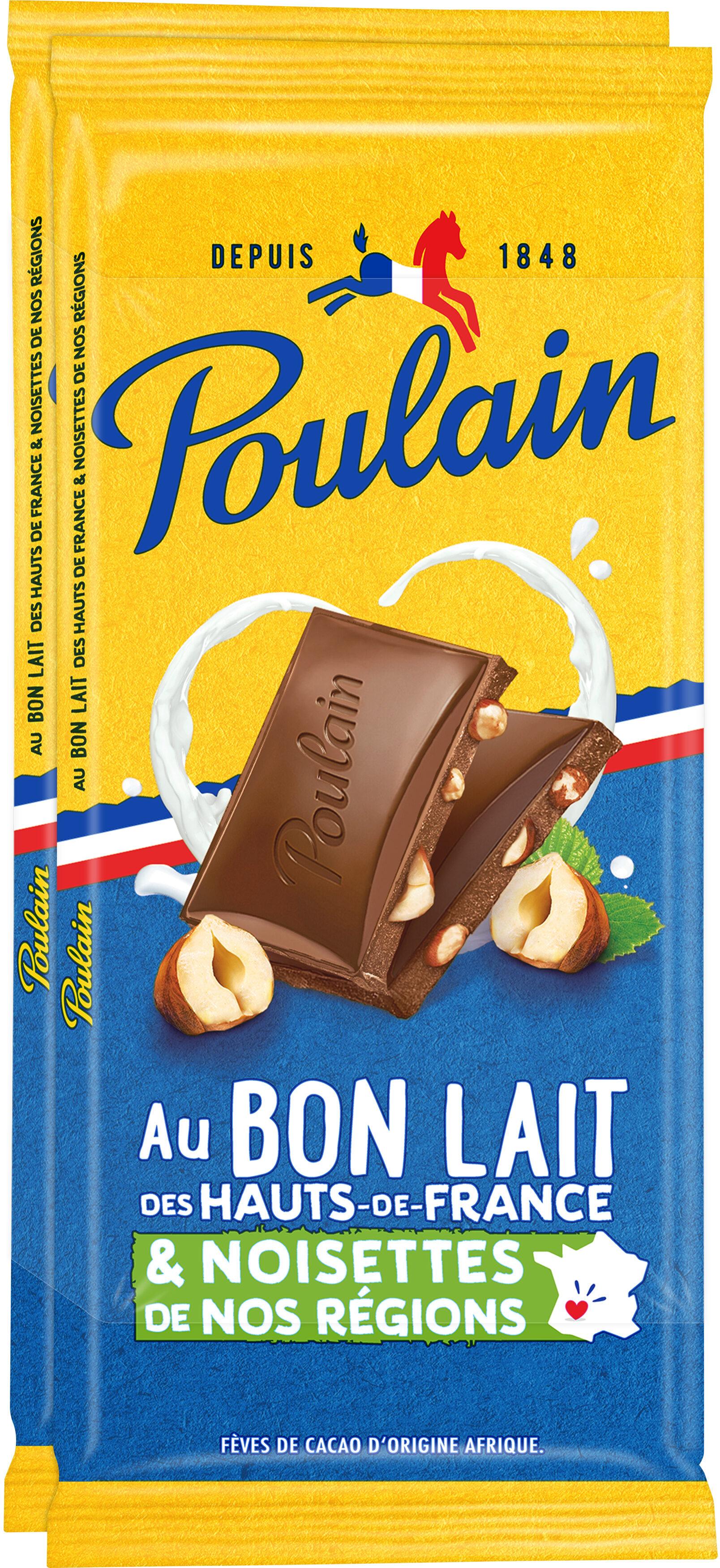 Au Bon Lait de Nos Régions Noisettes - Chocolat au lait extra-fin - Producto - fr