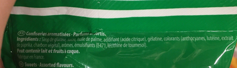 Carambar goûts fruits - Ingrédients - fr