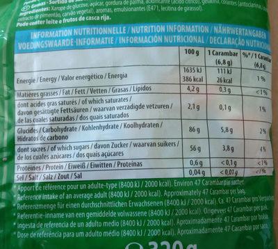 Carambar goûts fruits - Informations nutritionnelles - fr