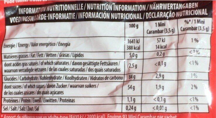 Carambar minis fête - Voedingswaarden - fr