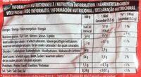 Carambar minis fête - Valori nutrizionali - fr