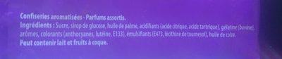 Carambar atomic - Ingredientes - fr