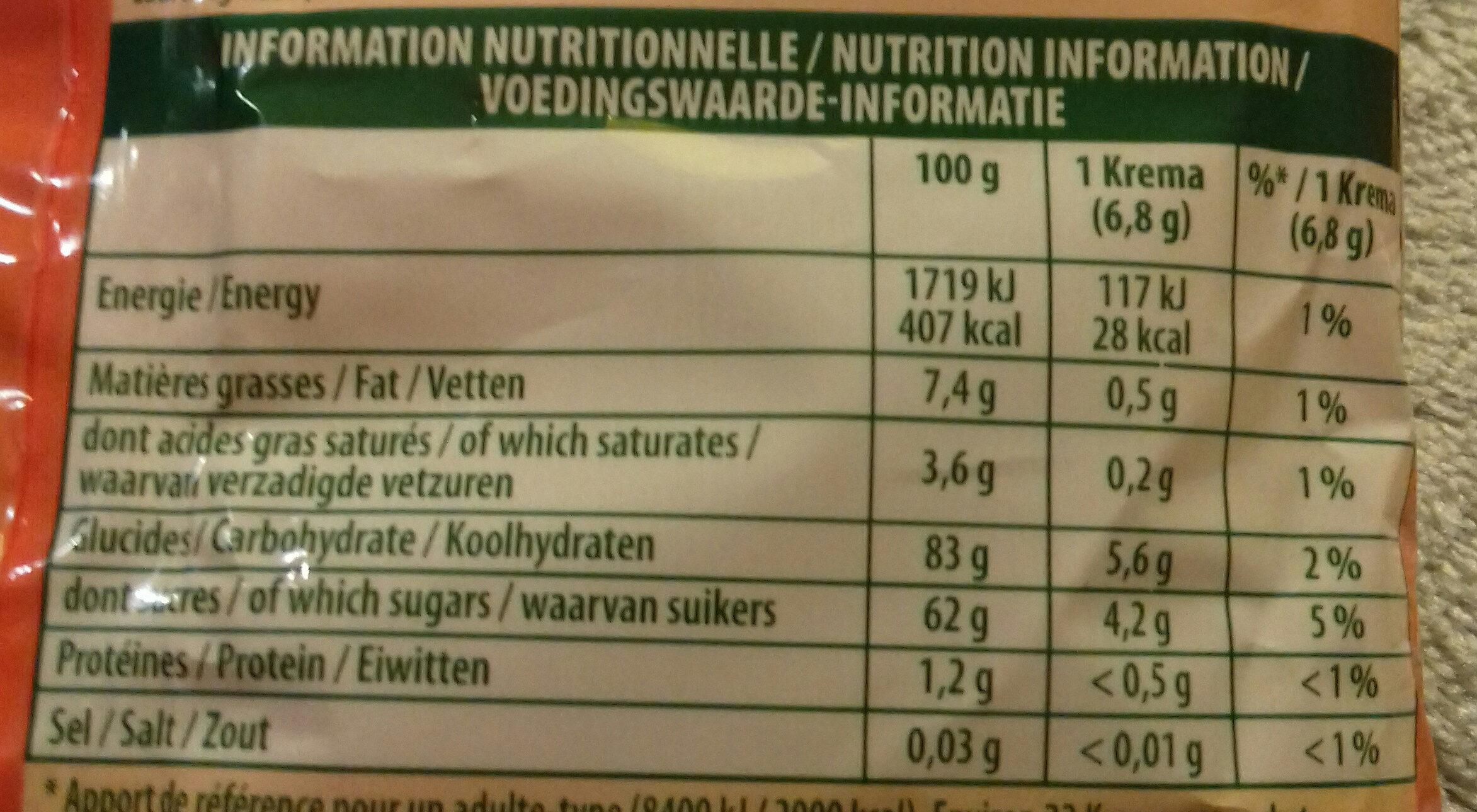 Régal'ad - Informations nutritionnelles - fr