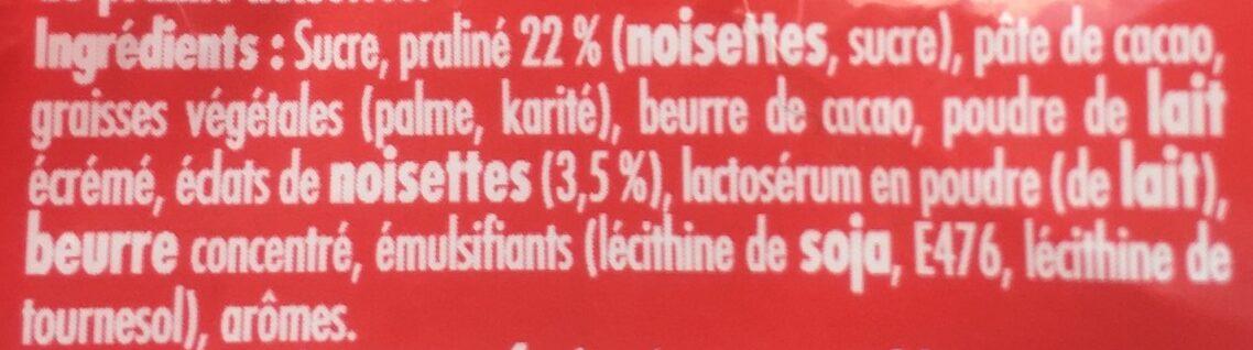 Rocher Au Lait - Ingrédients