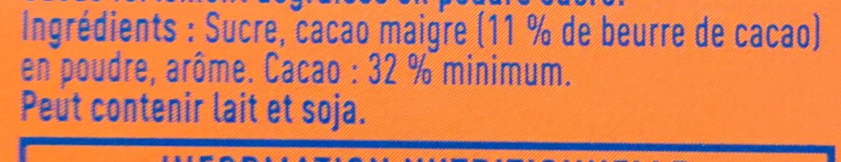 Poudre Poulain Grand Arôme - Ingrédients - fr