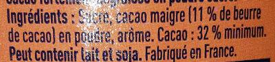 Grand Arôme 32% de Cacao - Ingrédients - fr