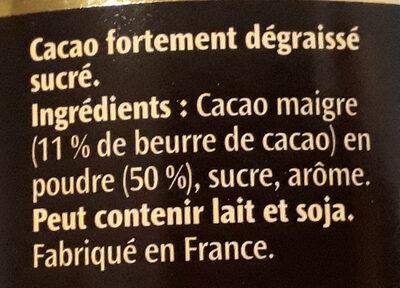 Poudre Poulain 1848 - Ingredienti - fr