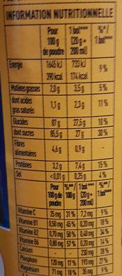 Super poulain - Nutrition facts - fr