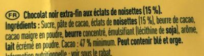 Noir extra noisettes - Ingrediënten