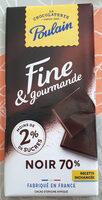 fine et gourmande Noir 70% - Produit - fr