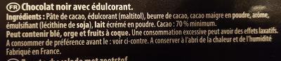 fine et gourmande Noir 70% - Ingrédients - fr
