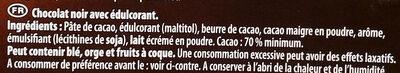 Fine et gourmande Noir 70% - Ingredientes - fr
