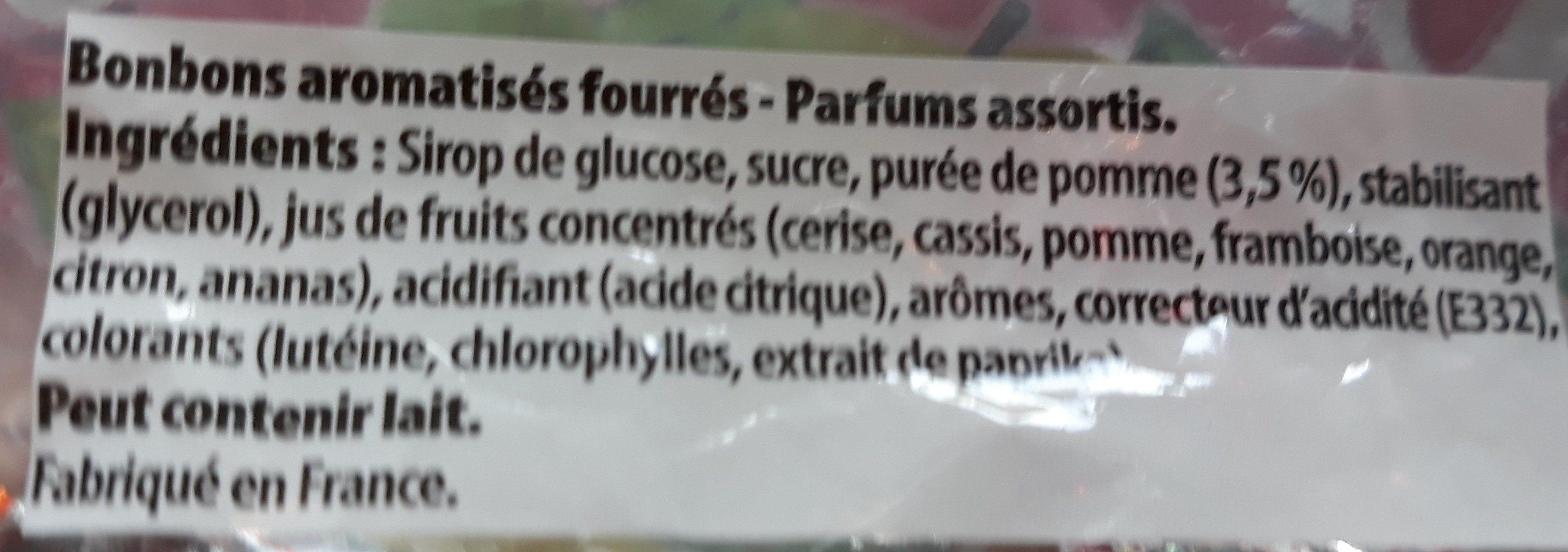 Croq'andise - Ingrediënten - fr