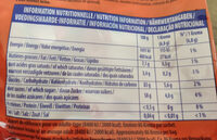 Regal'ad - Informations nutritionnelles - fr