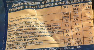 Bonbons festival - Informations nutritionnelles - fr