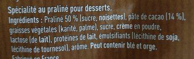 Pralinoise Corsé ☆ - Ingredients