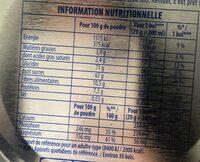 Chocolat en poudre - Informação nutricional - fr
