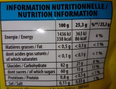 Mini Cub'BIO - Informations nutritionnelles - fr