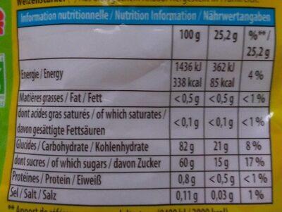 Mini Cub'  (vegan) - Informazioni nutrizionali - fr