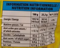 Mini Cub' bio - Nutrition facts - fr