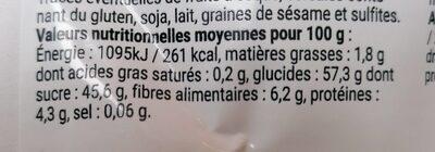 Mélange Super Fruits - Valori nutrizionali - fr