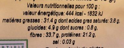Graine de chia - Nutrition facts - fr