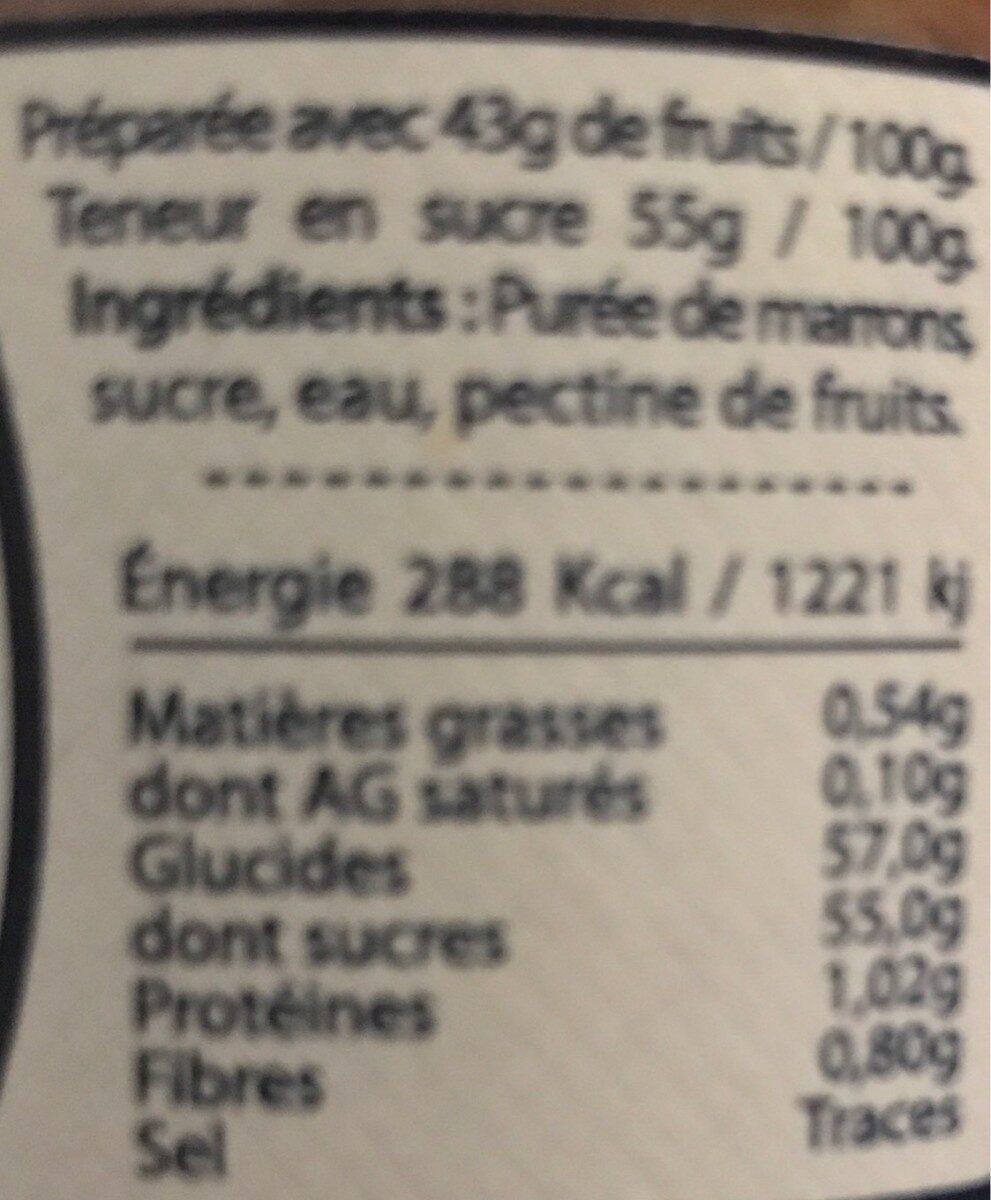 Creme marron - Nutrition facts - fr