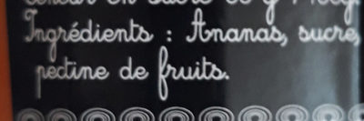 Confiture extra d'ananas - Ingredients