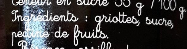 Confiture Extra Griotte - Ingrédients - fr