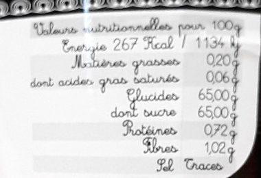 Confiture Extra Griotte - Informations nutritionnelles - fr